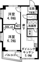 茨城県つくば市天久保1丁目の賃貸マンションの間取り