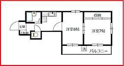 東京都台東区竜泉3丁目の賃貸アパートの間取り