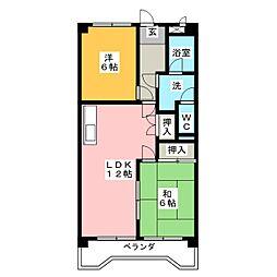セントラルアサノA棟[3階]の間取り