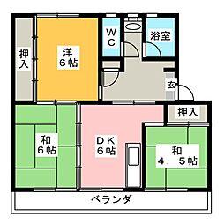 リバーサイドハイツ丸山A[1階]の間取り