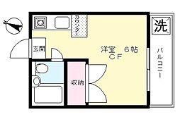 スカイマンション[203号室]の間取り
