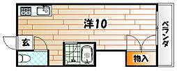 シティベール東筑[2階]の間取り