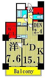 東京メトロ日比谷線 南千住駅 徒歩5分の賃貸マンション 29階1SLDKの間取り