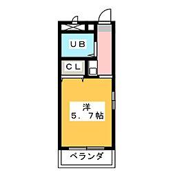 ジョイフル本郷[1階]の間取り