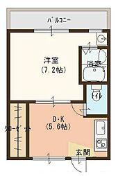 ヴィラナリー富田林 1号棟[1階]の間取り
