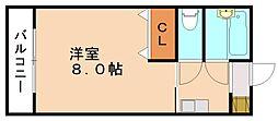 フラット6花元[2階]の間取り