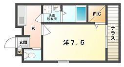 大阪府守口市梅町の賃貸アパートの間取り