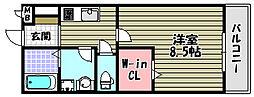 WISTERIA PLACE(ウィステリアプレイス)[3階]の間取り