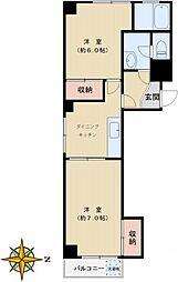 豊島ヶ丘ハウス[201号室]の間取り