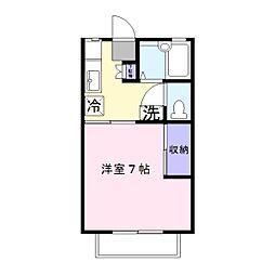 埼玉県幸手市大字千塚の賃貸アパートの間取り