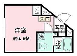 東京メトロ丸ノ内線 新大塚駅 徒歩4分の賃貸マンション 4階ワンルームの間取り