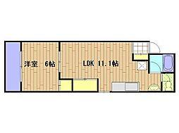 KWPlace立売堀[6階]の間取り