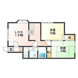 北海道札幌市東区北三十一条東9丁目の賃貸アパートの間取り
