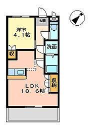 グレイス1[1階]の間取り