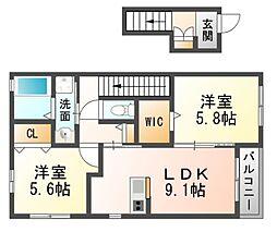兵庫県尼崎市塚口本町2丁目の賃貸アパートの間取り