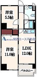 大阪府大阪市東成区大今里西2丁目の賃貸マンションの間取り