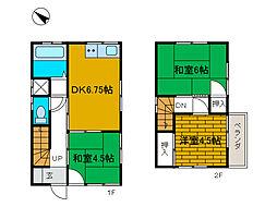 [一戸建] 神奈川県相模原市中央区弥栄2丁目 の賃貸【神奈川県 / 相模原市中央区】の間取り