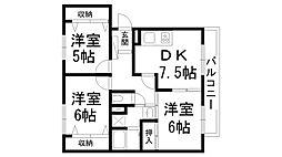 パークビュー藤阪[0305号室]の間取り