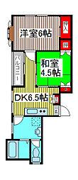 永井マンション[2-A号室]の間取り