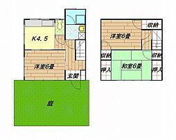 [テラスハウス] 神奈川県横須賀市久里浜台1丁目 の賃貸【/】の間取り