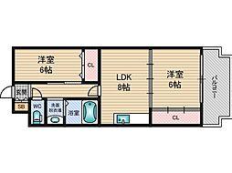 セジュールT&M[4階]の間取り