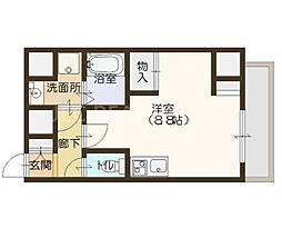 エスパシオ・コモド大阪新町[404号室]の間取り