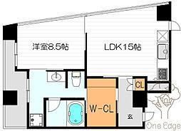W.O.B. NISHIUMEDA[7階]の間取り