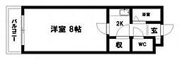 F233[403号室]の間取り