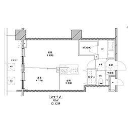 札幌市営東西線 西18丁目駅 徒歩14分の賃貸マンション 7階1LDKの間取り
