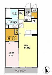 KOMUKAI Residence[103号室号室]の間取り