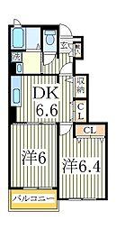ラ ポワール1[1階]の間取り