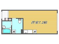 東京都北区滝野川5丁目の賃貸マンションの間取り
