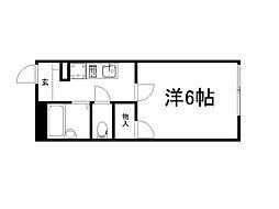 京都府京都市伏見区竹田田中殿町の賃貸アパートの間取り