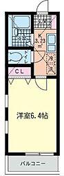 神奈川県横浜市鶴見区下末吉4の賃貸アパートの間取り