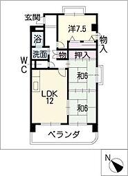 メゾン花池[3階]の間取り