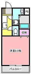 静岡県浜松市中区泉1の賃貸マンションの間取り