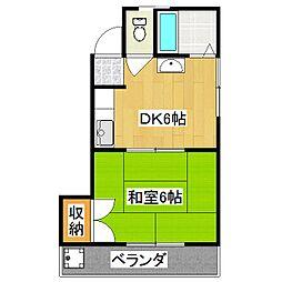 第1光マンション[4階]の間取り