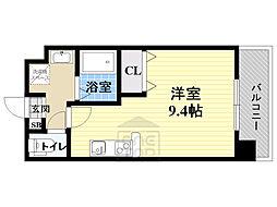 仮)都島本通4丁目新築マンション 6階ワンルームの間取り