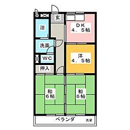 清水住宅ビル[4階]の間取り