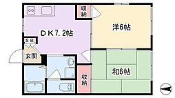 メゾンスピランテス[1階]の間取り