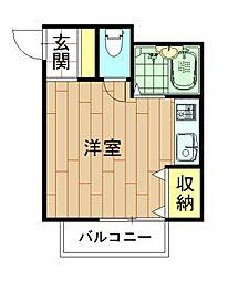 神奈川県川崎市幸区下平間の賃貸マンションの間取り