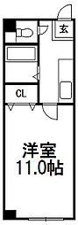 北海道札幌市白石区栄通1丁目の賃貸マンションの間取り