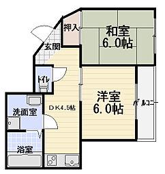パークアベニュー弐番館[4階]の間取り