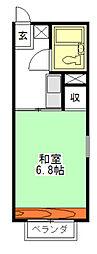大川ハイツ[2階]の間取り