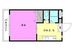 セレッソ赤坂[207 号室号室]の間取り