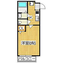 フラッティ丹波口[2階]の間取り