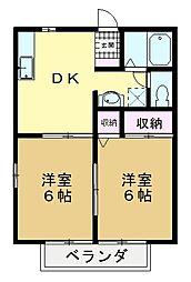 プティメゾン[2階]の間取り
