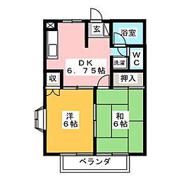 S・コンフォート前橋[2階]の間取り