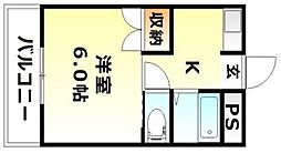 岡山県岡山市北区青江5丁目の賃貸マンションの間取り