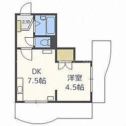 菊水コート[6階]の間取り